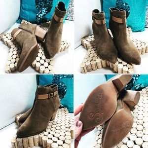 ANTHROPOLOGIE SEYCHELLES Suede Leather Ankle Boots